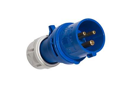 Plug CEE17 32A/230V P+N+PE 6h, 2 pole & earth