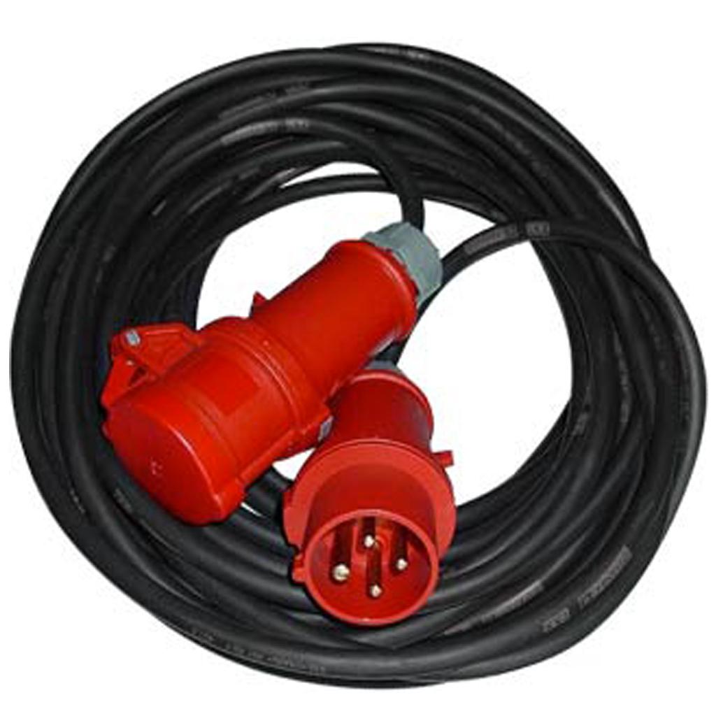 Câbles  5 x 6 mm: fiche 32 triphasé / 20 Metres