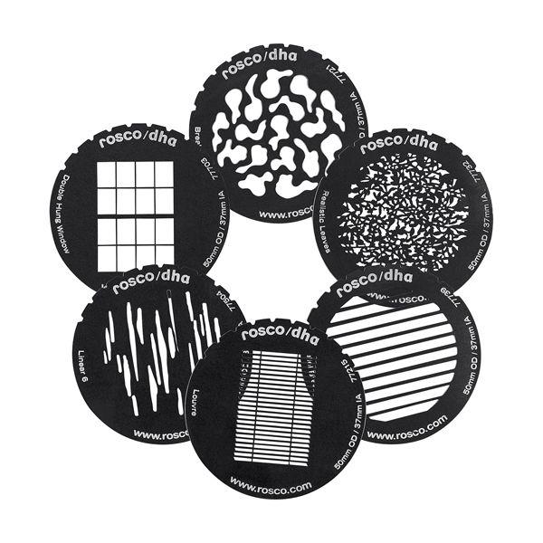 DPGSET / Gobo set (six popular steel gobos, size 'M')