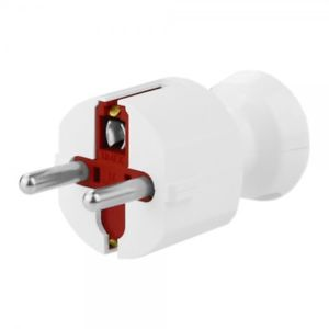 Plug Schuko 16A/230V, 2 pole & earth