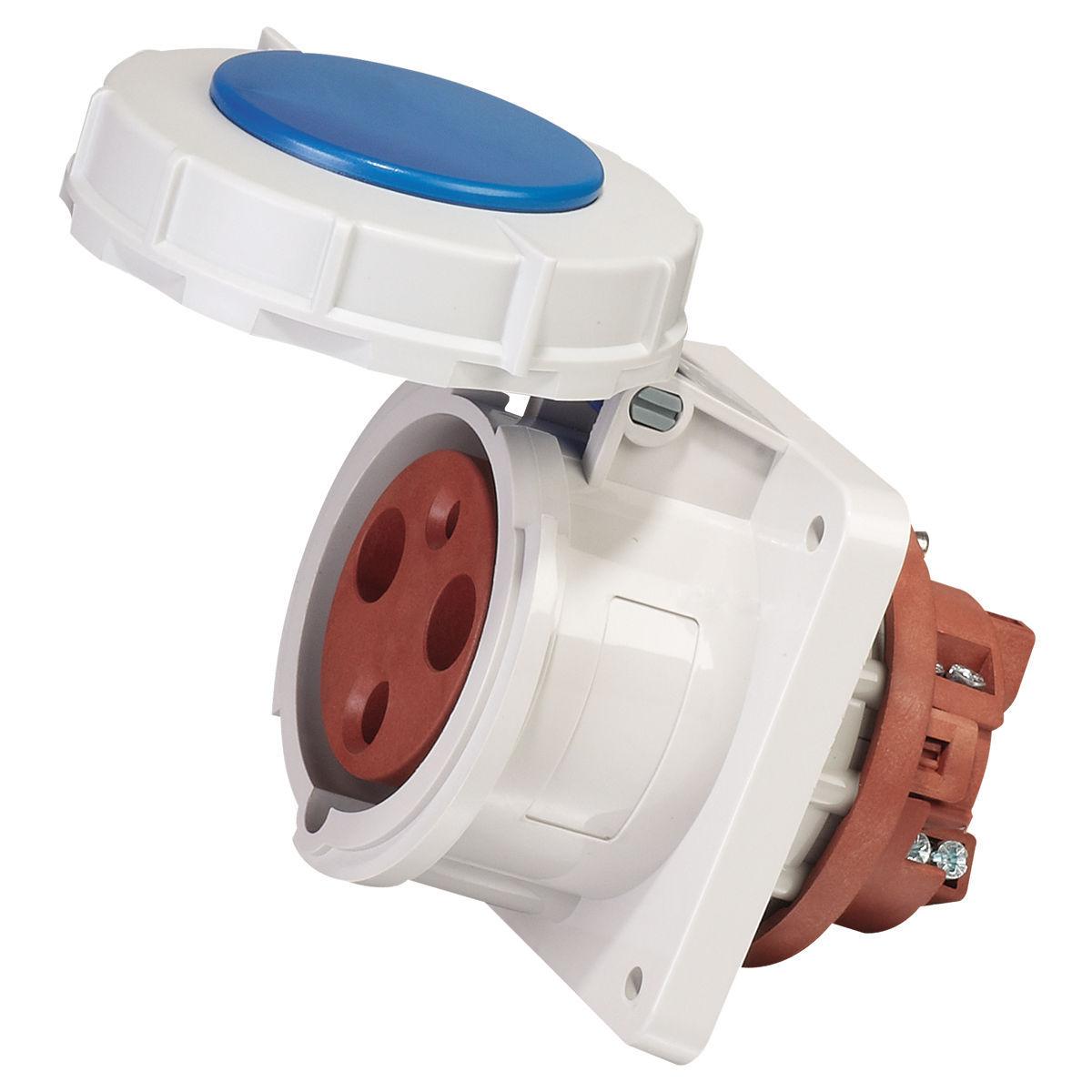 Plug CEE17 63A/230V P+N+PE 6h, 2 pole & earth